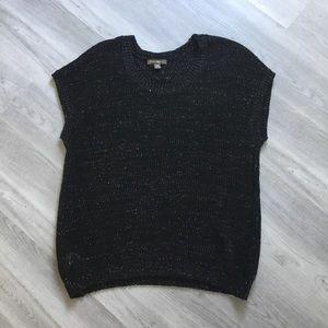 Tommy Bahama Tunic Shirt Black Glitter Size L